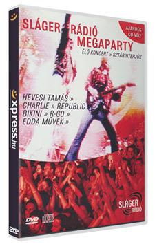 Sláger Rádió Megaparty - Élő koncertek, sztárinterjúk (DVD+CD) termékhez kapcsolódó kép